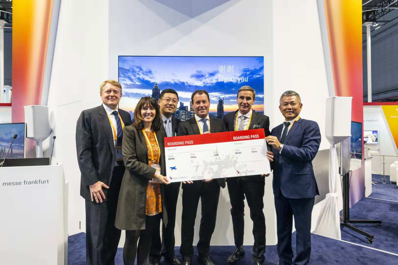 Winner of the trip to a worldwide Messe Frankfurt fair